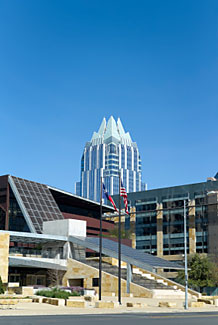 A picture of Austin City Hall.